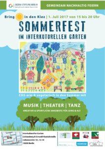 Plakat vom Sommerfest
